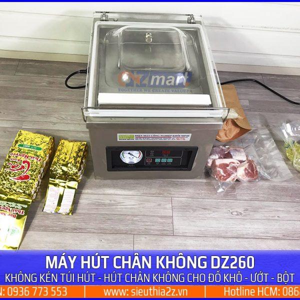 Máy ép chân không công nghiệp Dz 260 đóng gói cho tất cả các loại thực phẩm
