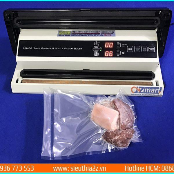 hướng dẫn sử dụng chức năng hút chân không cho túi nhám của máy hút chân không thực phẩm Magic Seal MS400